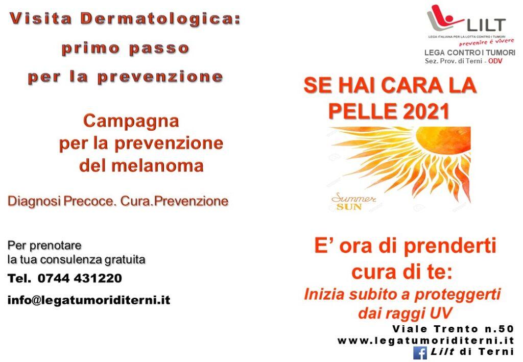 Campagna di prevenzione del melanoma