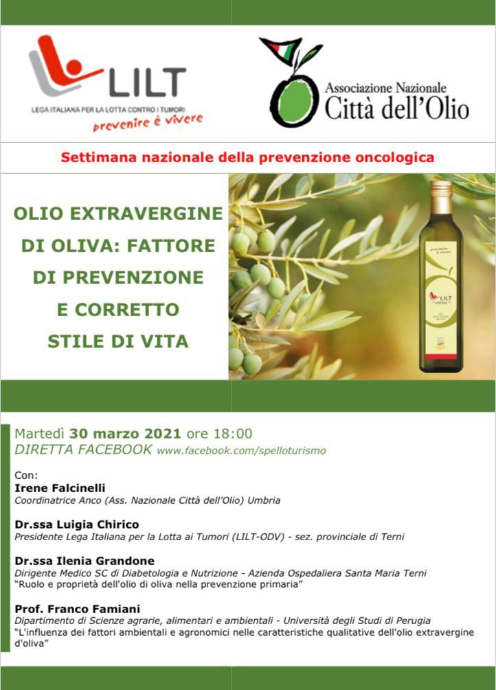 Olio Extravergine di oliva: Fattore di prevenzione e corretto stile di vita